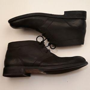 CLARKS Black Leather Sz 12 M Ankle Boots